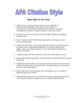 apa writing style do s and don ts