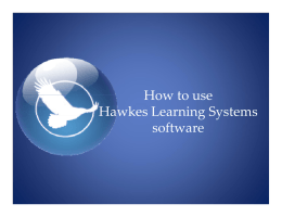 How to use Hawkes Learning Systems software