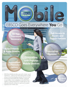 EBSCO Goes Everywhere You Go