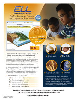 English Language Learner www.ebscohost.com