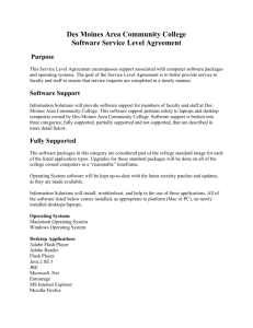 Software Service Level Agreement