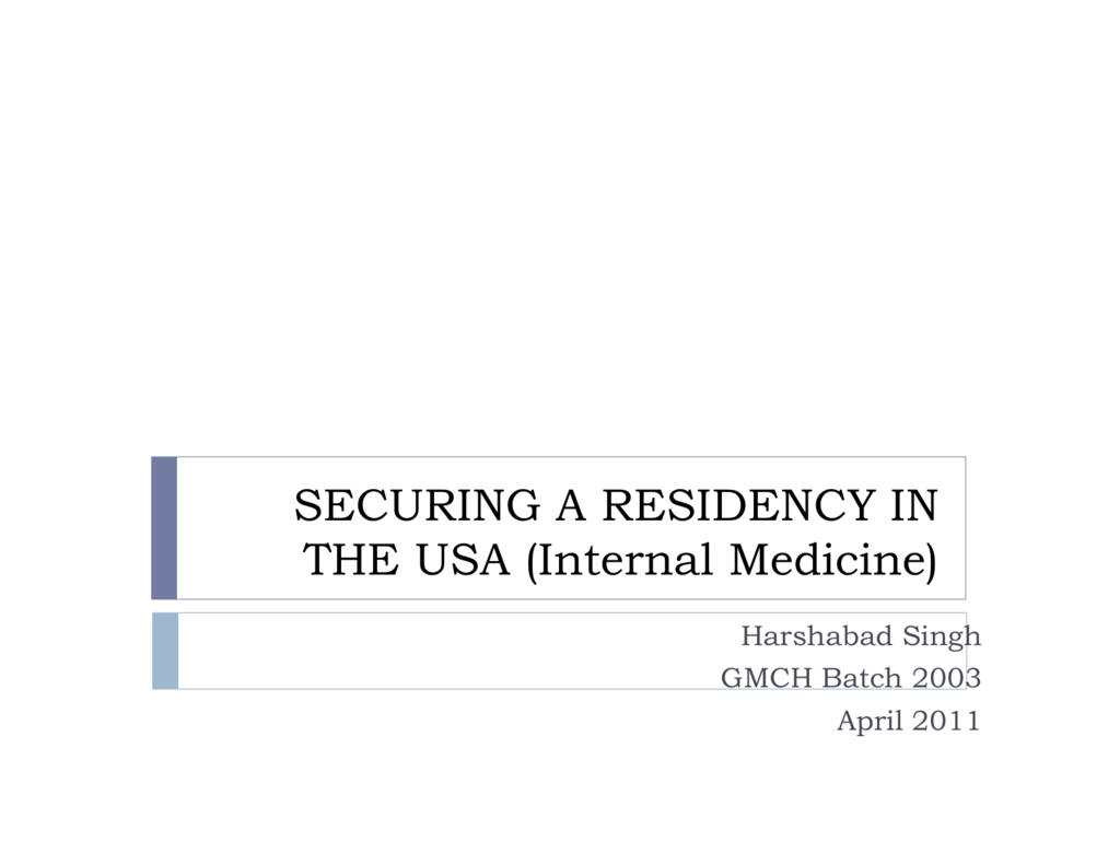 Securing a residency in the US