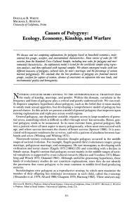 Causes of Polygyny: Ecology, Economy, Kinship, and Warfare