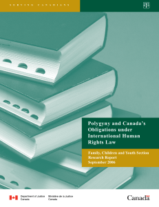 Polygyny and Canada's Obligations under International Human
