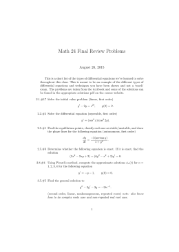 Math 24 Final Review Problems