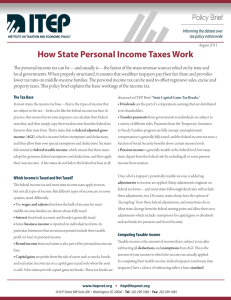How State Personal Income Taxes Work