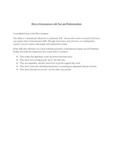 How to Communicate with Tact and Professionalism Consolidated
