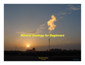 Mineral Geology for Beginners