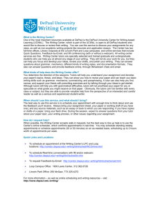 What is the Writing Center? One of the most