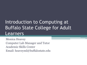 Introduction to Computing at Buffalo State College for Adult Learners