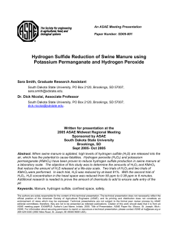 Hydrogen Sulfide Reduction of Swine Manure using Potassium