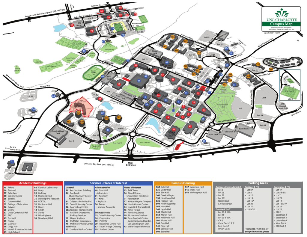 Uncc Campus Map - Facilities Management on