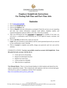 New Employer Web Registration for the UCF