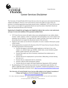 Disclaimer - Career Services - University of Central Florida