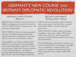 germany's 'new course' and britain's 'diplomatic revolution'
