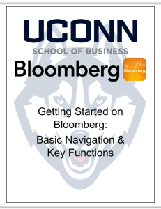 Getting Started on Bloomberg: Basic Navigation & Key Functions