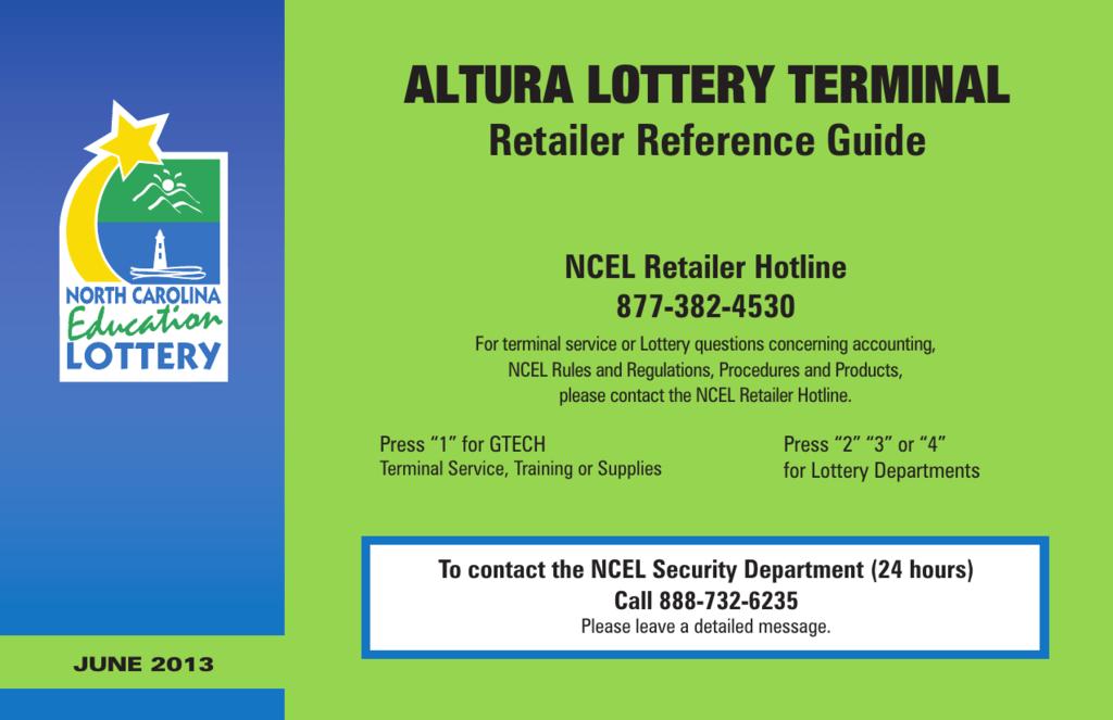altura lottery terminal - North Carolina Education Lottery