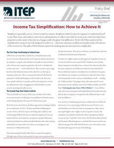 Income Tax Simplification: How to Achieve It