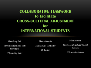 Collaborative Teamwork to Facilitate Cross