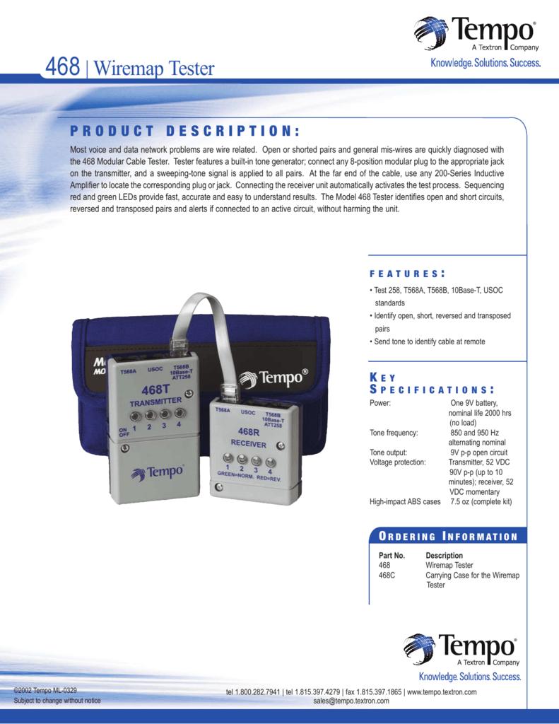 468| Wiremap Tester - Wire Supplies, Inc.