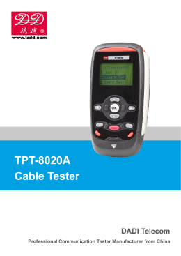 TPT-8020A Cable Tester