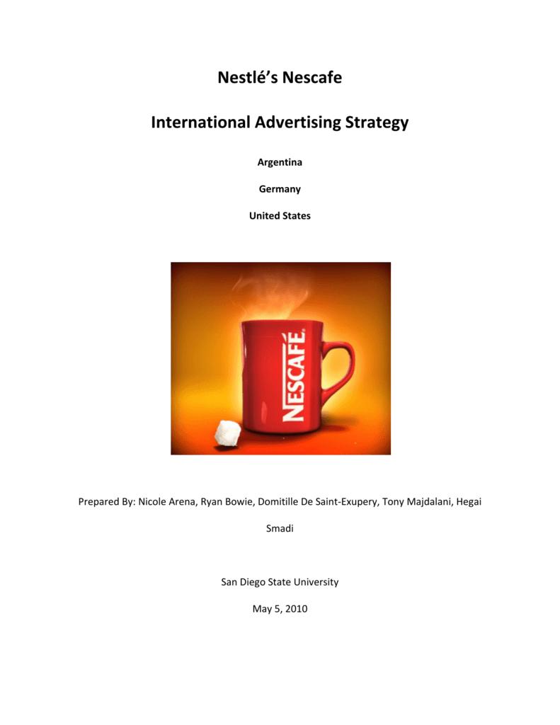 nestle global marketing strategy