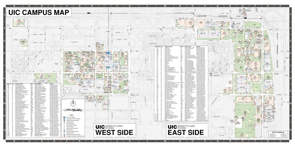 Cabrini College Campus Map.Uic Campus Map West