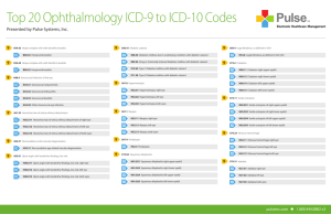 Top 20 Ophthalmology ICD-9 to ICD-10 Codes