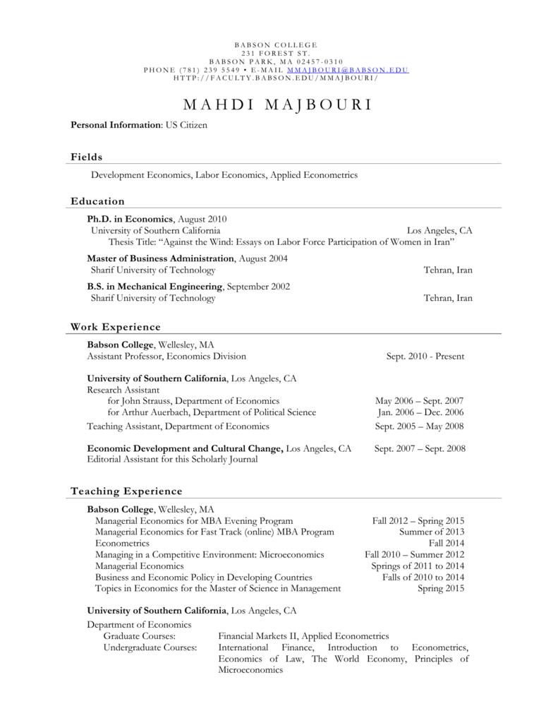 managerial economics topics for paper