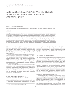 archaeological perspectives on classic maya social organization