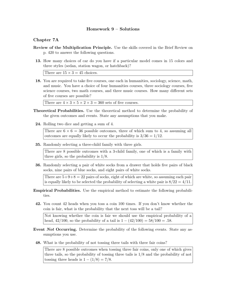 Probability the Complement of an Event Five Worksheet Pack - Math ...