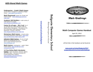 Math Survivor Online Games Brochure