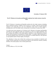 Local EU statement on death sentence in Gaza