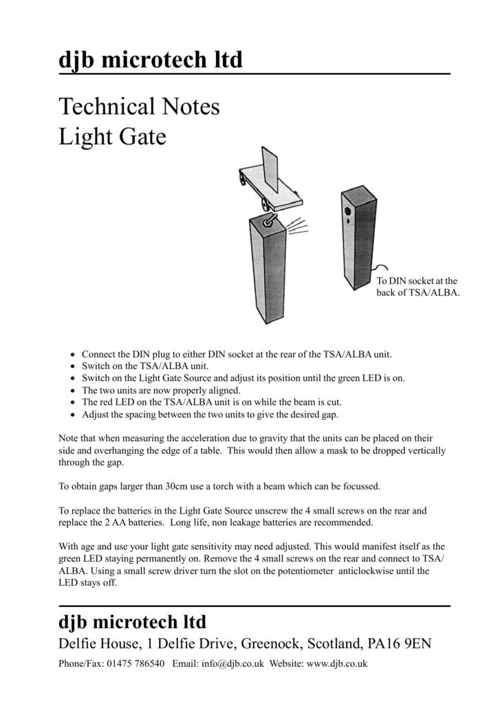 Djb Microtech Ltd Technical Notes Light Gate