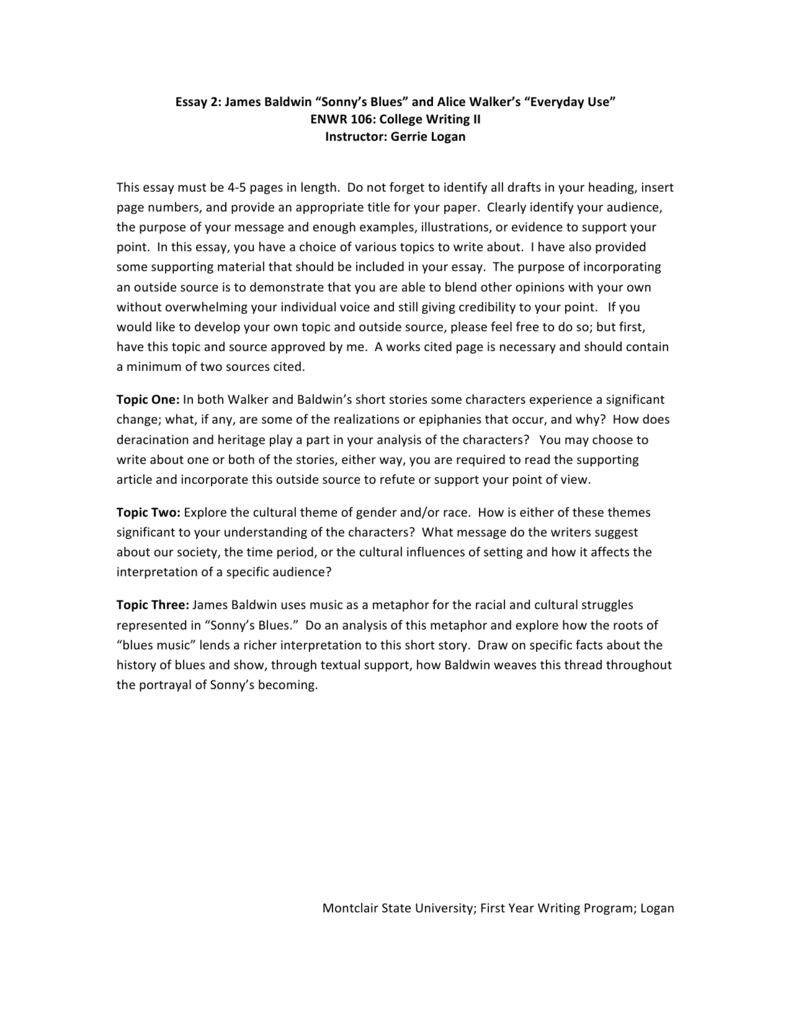 critical analysis essay sonny s blues A critical analysis of sonny's blues and the concept of communication pages 1 words 432 view full essay more essays like this: james baldwin, sonny s blues.
