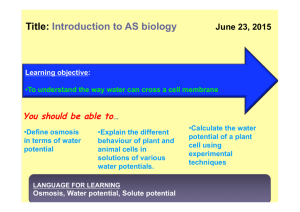 BIOLOGY for June y12 students