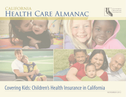 California Health Care Almanac | Covering Kids: Children's Health