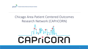 Chicago Area Patient Centered Outcomes Research Network