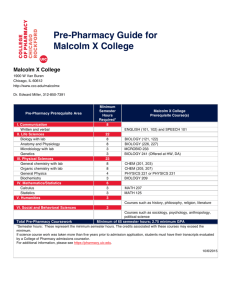 Malcolm X College - College of Pharmacy | University of Illinois at
