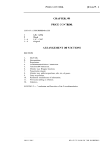 Price Control Act - Bahamas Laws On-Line