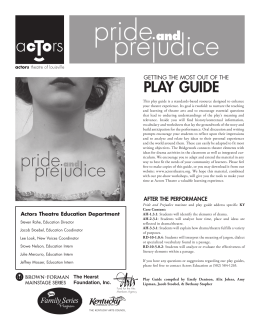 play guide - Actors Theatre of Louisville
