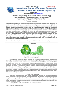 Green Computing: Go Green and Save Energy