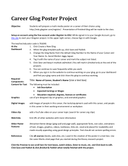 Career Glog Poster Project