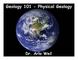Geology 101 - Physical Geology