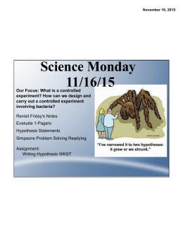 Science Monday 11/16/15