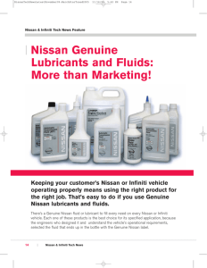 | Nissan Genuine Lubricants and Fluids: More than Marketing!