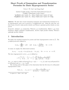Short Proofs of Summation and Transformation Formulas for Basic