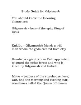 characteristics of enkidu