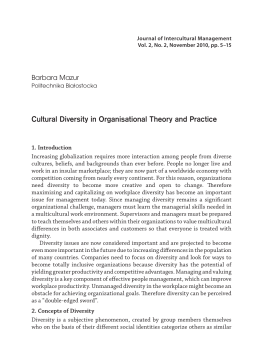 Cultural Diversity in Organisational Theory and Practice