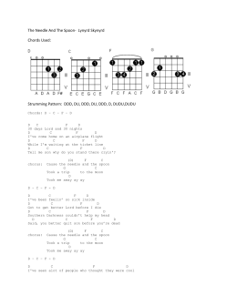 The Needle And The Spoon- Lynyrd Skynyrd Chords Used